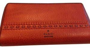 Gucci GUCCI AUTHENTIC NWT LADIES' DARK NECKTARINE ZIP AROUND WALLET