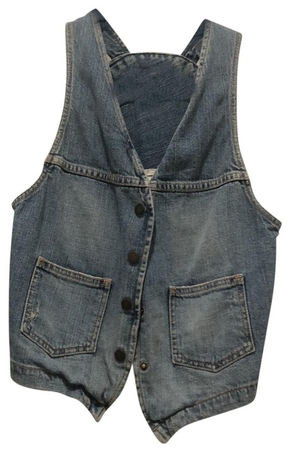 Item - Denim The Circle Vest Size 6 (S)