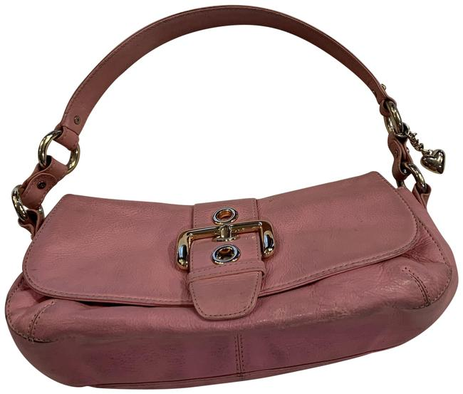 Item - With Buckle Pink Leather Satchel