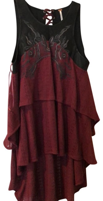 Free People Oxblood Red Top Free People Oxblood Red Top Image 1