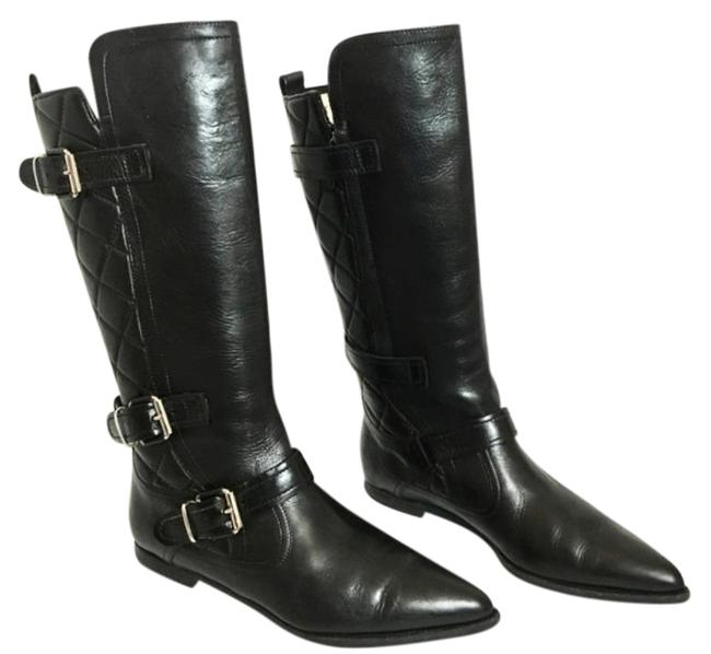 Item - Black Quilted Leather Boots/Booties Size US 9 Regular (M, B)