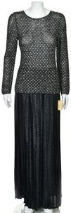 Adolfo Palazzo Vintage Pleated Evening Pants Dress