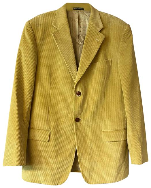 Item - Yellow Velluto Duca Visconti Di Modrone Made In Italy Corduroy Jacket 52 Blazer Size OS (one size)