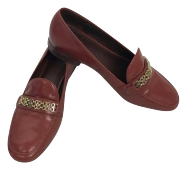 Tory Burch Burgundy Loafer Style Flats Size US 7 Regular (M, B) Tory Burch Burgundy Loafer Style Flats Size US 7 Regular (M, B) Image 1