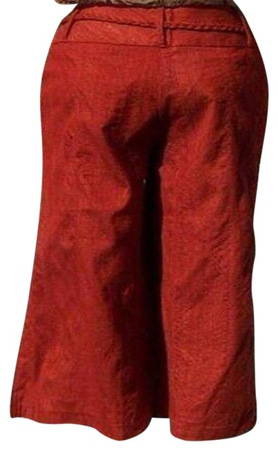 Item - Rust XS Raw Silk Removable Self Belt Crop New 0/2/4 Pants Size 2 (XS, 26)