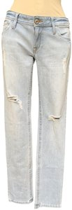 """DL1961 73% Cotton 27% Polyester Rise 8"""" Inseam 33"""" Straight Leg Jeans-Light Wash"""