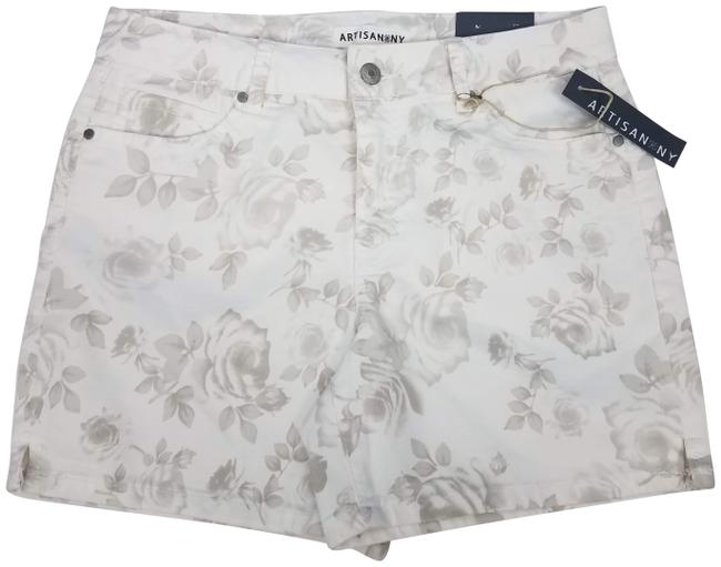 Item - White Chino Floral Shorts Size 8 (M, 29, 30)