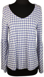 Massini By Stacy London Gingham Longsleeve Bell Sleeves Top Multicolor