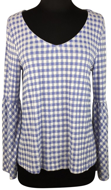 Item - Multicolor By Stacy London Gingham Long Bell Sleeves Nwd Blouse Size 4 (S)