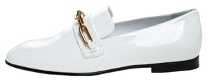 Burberry Patent Leather White Flats