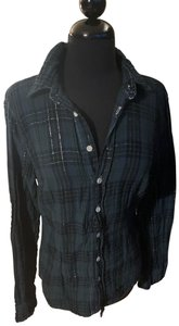 CP Shades Button Down Shirt Navy/black/silver