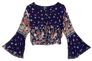 Angie Top Blue Multi Color