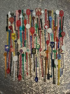 222 Vintage Swizzle Sticks ~ Vintage Tableware