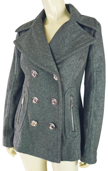 Item - Gray Heather Double Breasted Coat Size 6 (S)