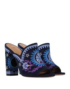 Aquazzura Sandal Flower Blue purple Mules