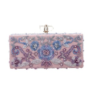 Marchesa Evening Runway Bridal Wedding Prom pink Clutch