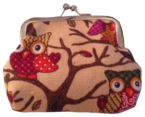 Owl Coin Purse, Light Biege with design