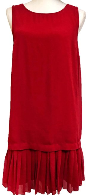 Item - Red Black Shift Mid-length Short Casual Dress Size 8 (M)