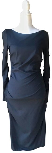 Item - Grey Jersey Ruched Bodycon Long Night Out Dress Size 8 (M)