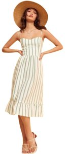 green and white Maxi Dress by Reformation