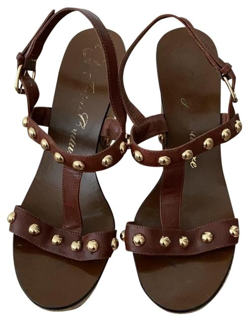 Item - Brown Stud With Wedges Size US 9 Regular (M, B)