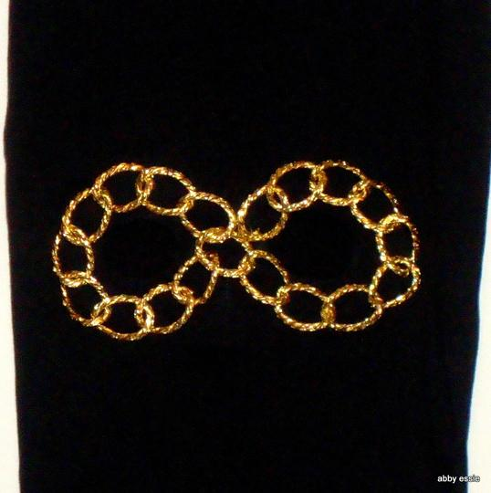 Other HIP HOP ROCK STAR BLACK KNIT GOLD CHAIN EYE SKI MASK COSTUME HAND CRAFTED