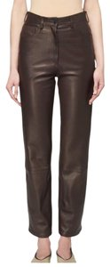 The Row Straight Pants Espresso Brown