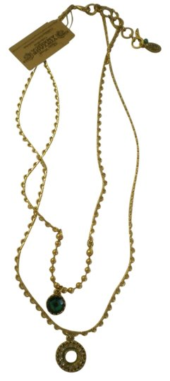 Nine West Nine West Vintage America Collection Necklace, gold tone with green stone, new with tag