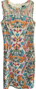 Adrianna Papell short dress Multi Print Cut-out Sheath Floral on Tradesy
