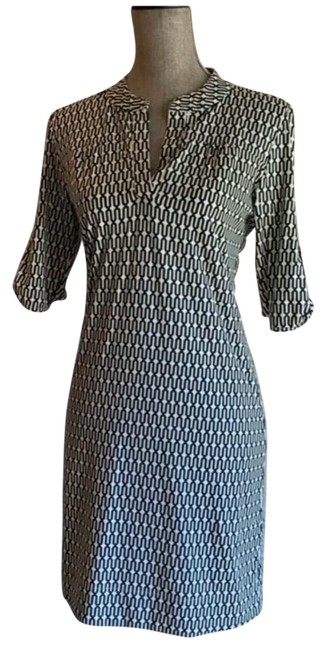 Item - Blue Mid-length Short Casual Dress Size 6 (S)