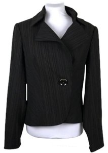 Donna Degnan Structured Button Lined Longsleeve Brown Blazer