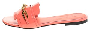 Burberry Patent Leather Pink Flats