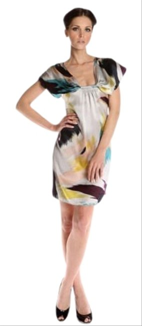 Ted Baker Abstract Multicolor Tito Short Cocktail Dress Size 10 (M) Ted Baker Abstract Multicolor Tito Short Cocktail Dress Size 10 (M) Image 1