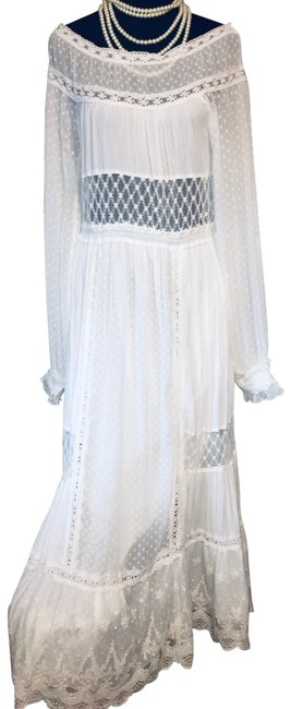 Item - White Hobo Ivory Cotton Long Casual Maxi Dress Size 4 (S)