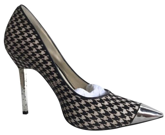 Item - Black/White Zady Calfhair Houndstooth Pumps Size US 6 Regular (M, B)