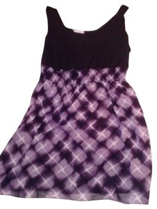 Maurices short dress Multiple Colors Purple White Black Winter Mini on Tradesy