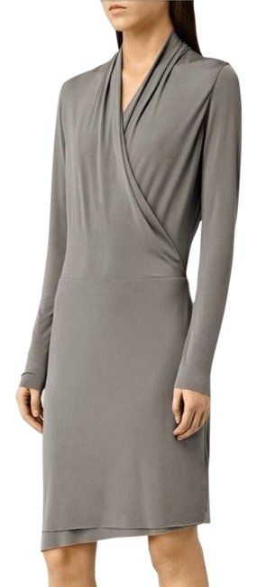 Item - Pewter Grey Tame Mid-length Cocktail Dress Size 8 (M)