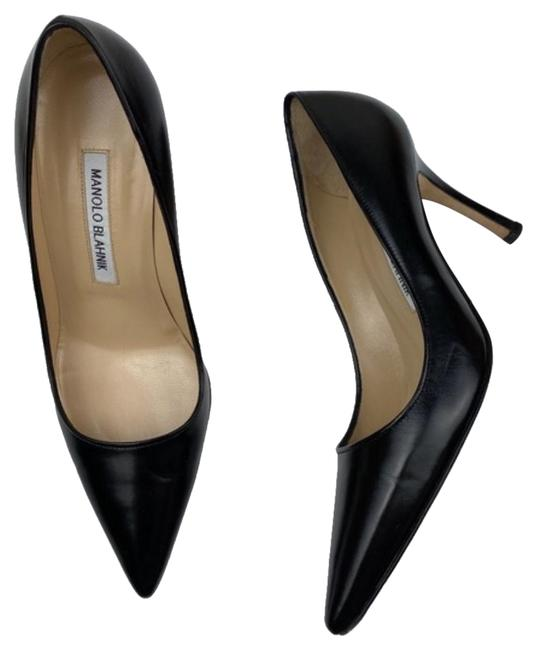 Item - Black Leather Heels Pumps Size US 6.5 Regular (M, B)