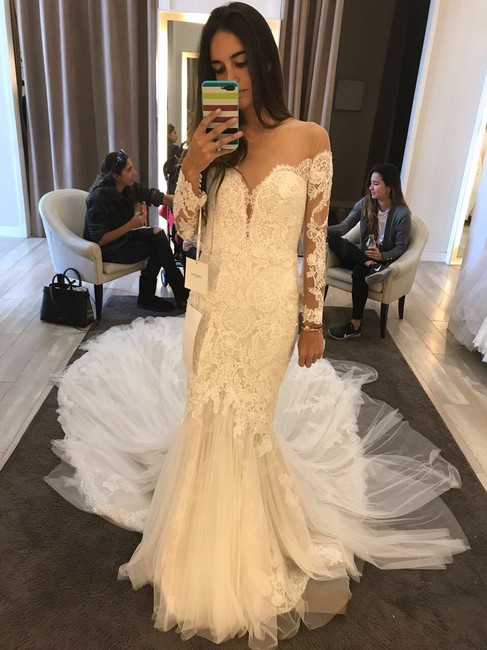 Item - Lace & Tulle Style: Drinea Formal Wedding Dress Size 2 (XS)