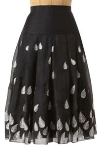 Moulinette Soeurs Silk Cotton Midi Maxi Skirt Black