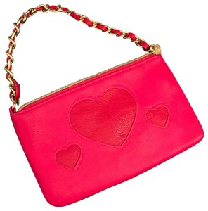 Betsey Johnson Wristlet in Pink & Red