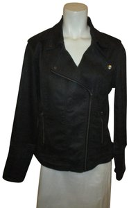 Liverpool Jeans Company Stretchy Moto Onm001 black charcoal Womens Jean Jacket