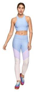 Outdoor Voices Athetlic Work Out Compression Blue Pink Leggings