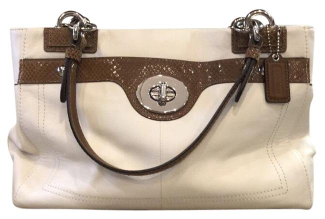 Item - Handbag Cream & Brown Leather Baguette