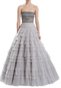 J. Mendel Gown Embroidered Ball Gown Ruffles Dress