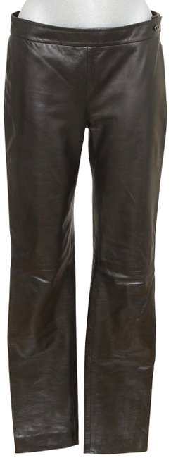 Item - Black Leather Lambskin Leg Pockets Zipper 38 Pants Size 6 (S, 28)