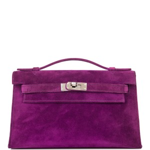 Hermès Purple Clutch