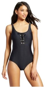 Mossimo Women's Lace-Up One Piece - Black - Mossimo