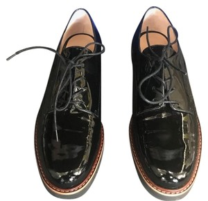 Stuart Weitzman Leather Oxfords Black Flats