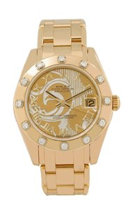 ROLEX LADY-DATEJUST PEARLMASTER 81318 34MM WITH 18K YELLOW GOLD BRACELET